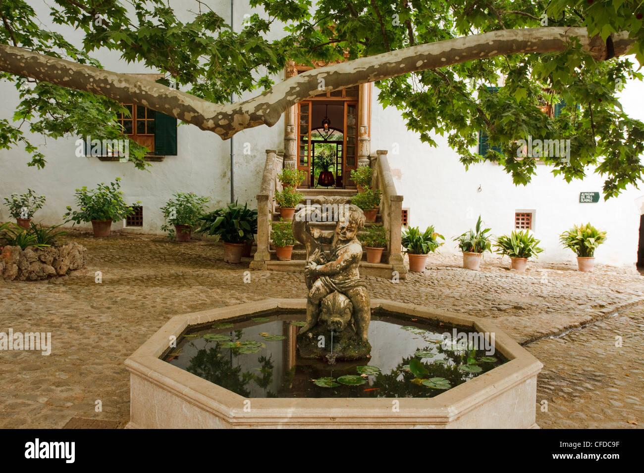 Jardins d Alfabia, moorish country estate, 14 15 century, Bunyola, Mallorca, Balearic Islands, Spain, Europe - Stock Image