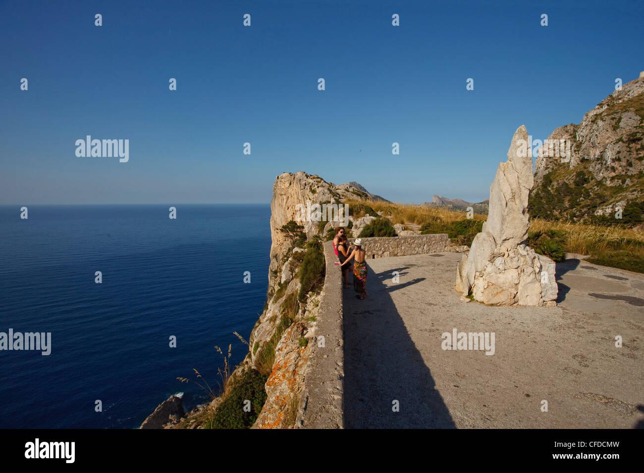 Viewpoint, Mirador d es Colomer, Mirador de Mal Pas, Cap de Formentor, cape Formentor, Mallorca, Balearic Islands, - Stock Image