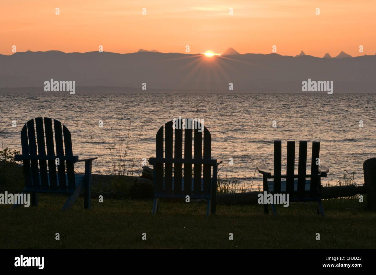 adirondack chairs on beach sunset. Exellent Chairs Adirondack Chairs Lined Up On The Beach At Sunrise Merville British  Columbia Canada And Chairs On Beach Sunset I