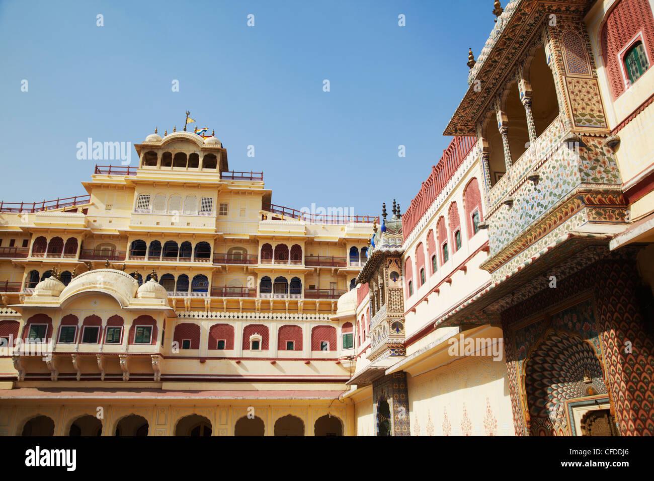 Chandra Mahal, City Palace, Jaipur, Rajasthan, India, Asia Stock Photo