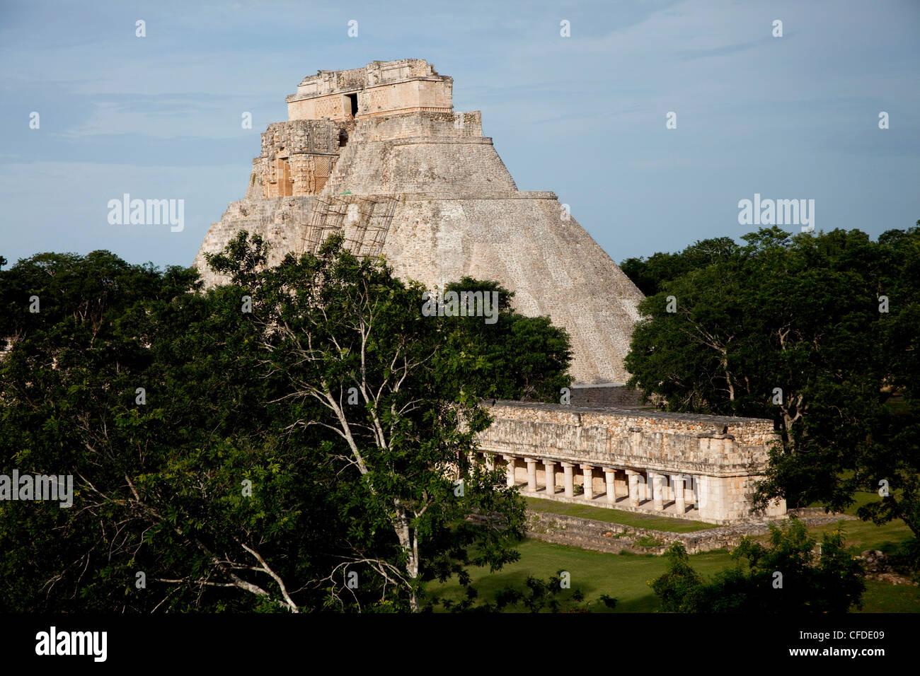 The Pyramid of the Magician, Uxmal, UNESCO World Heritage Site, Yucatan, Mexico, Stock Photo