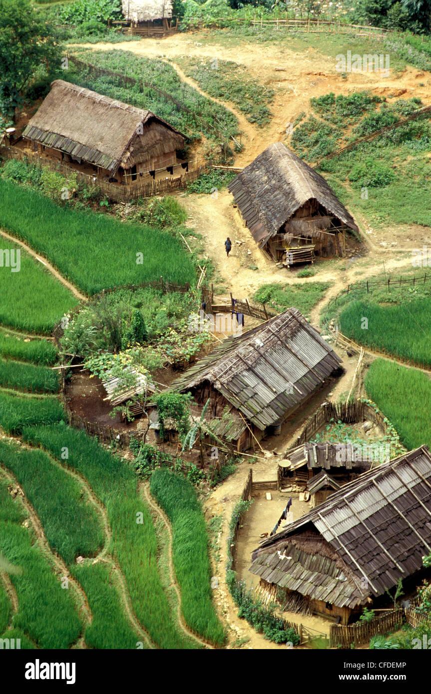 Rice fields in Sapa region, North Vietnam, Vietnam, Indochina, Southeast Asia, Asia - Stock Image