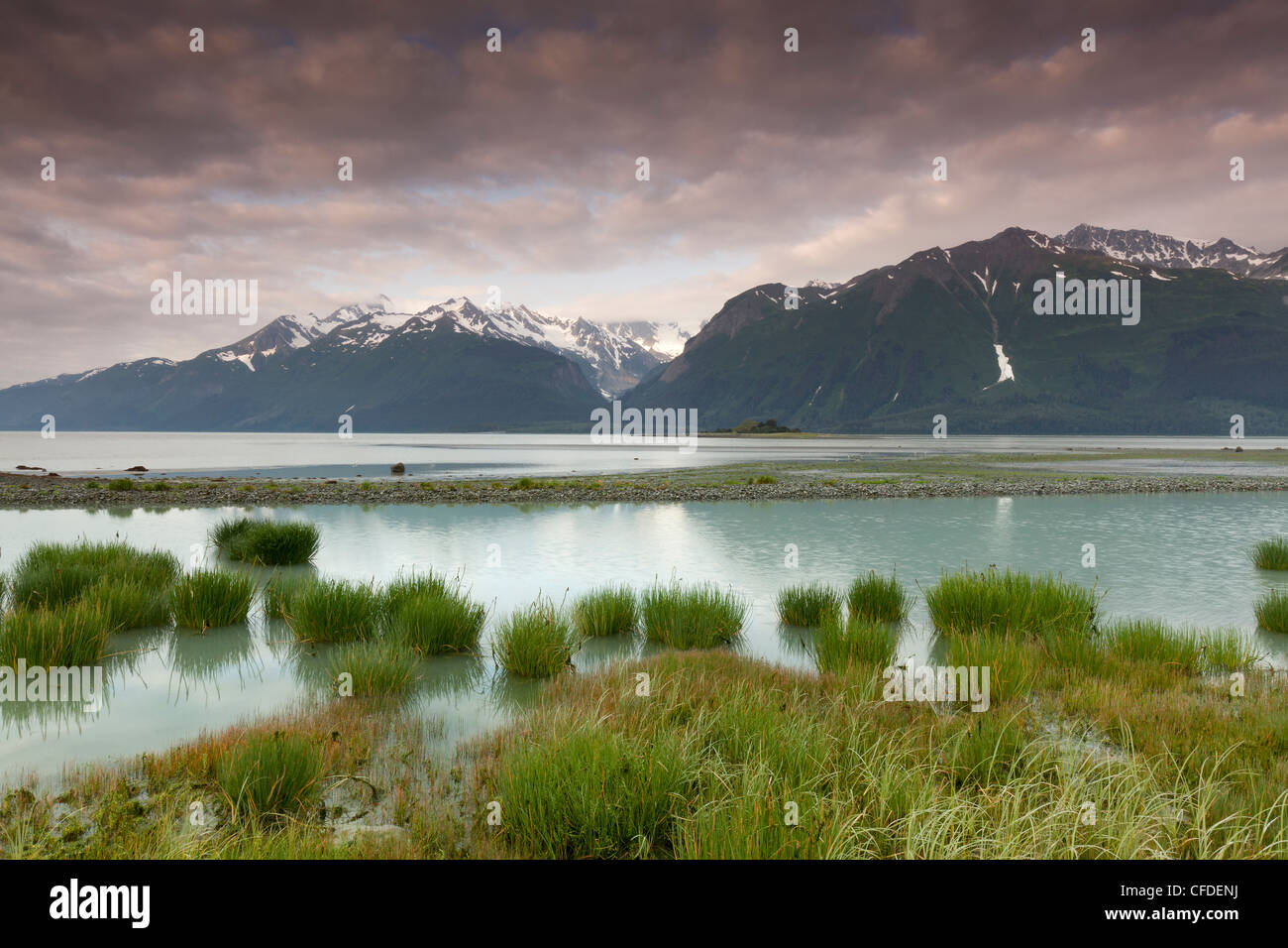 The Chilkat Inlet on the upper portion of the Lynn Canal near Haines, Alaska, United States of America - Stock Image