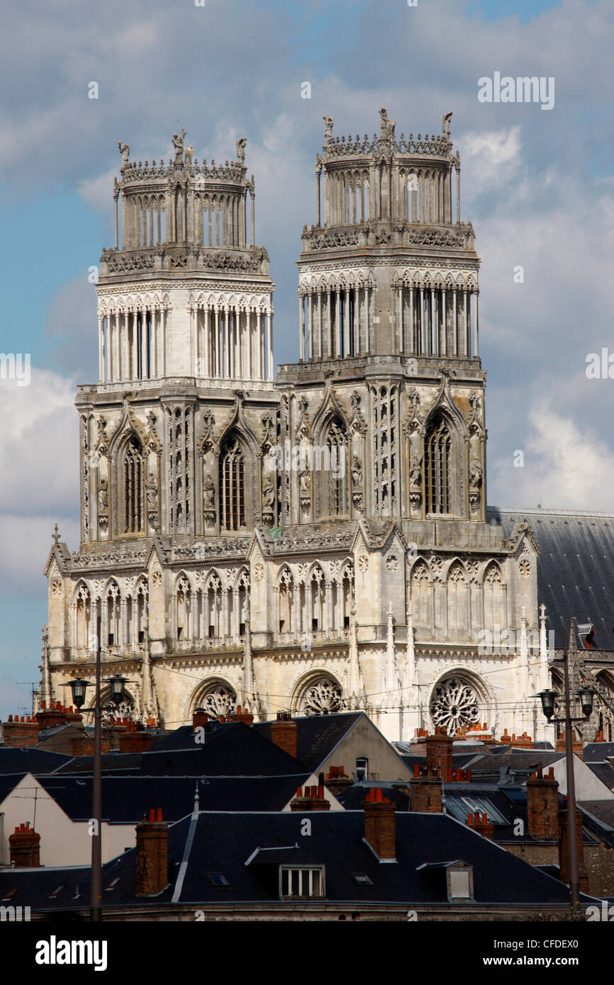 Sainte-Croix (Holy Cross) cathedral, Orleans, Loiret, France, Europe - Stock Image