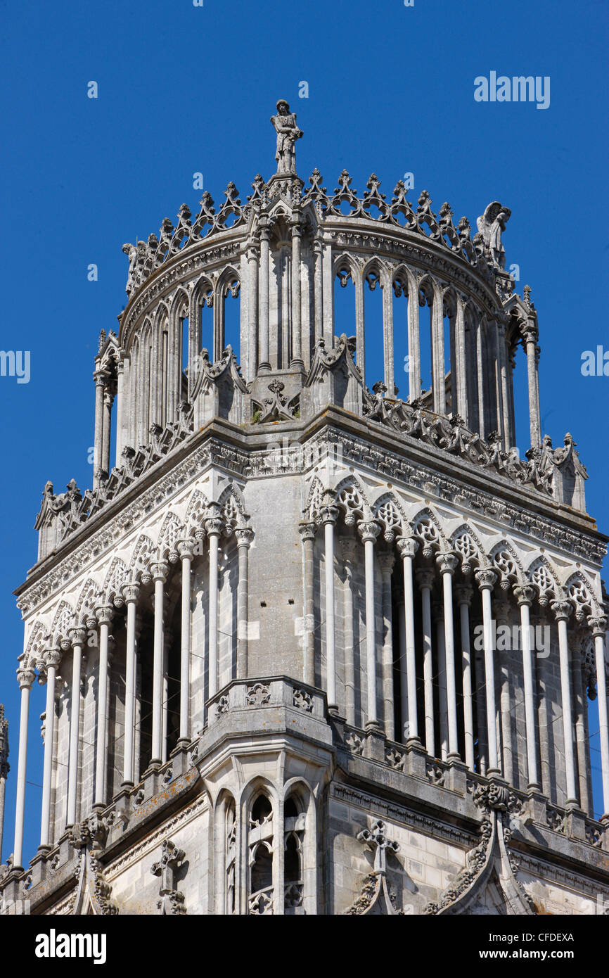 Tower of Sainte-Croix (Holy Cross) cathedral, Orleans, Loiret, France, Europe - Stock Image