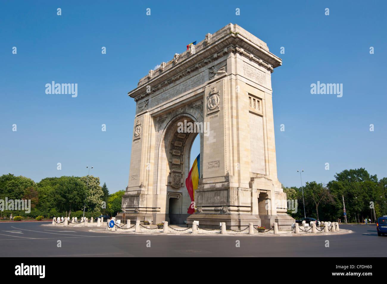 Arcul de Triumf (Triumphal Arch), Bucharest, Romania, Europe - Stock Image