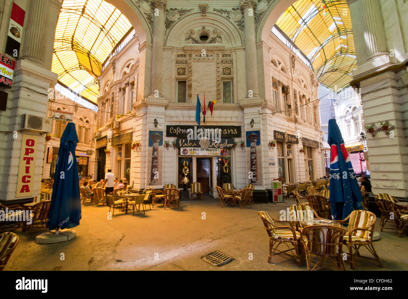 Covered passage Bucharest, Romania, Europe - Stock Image