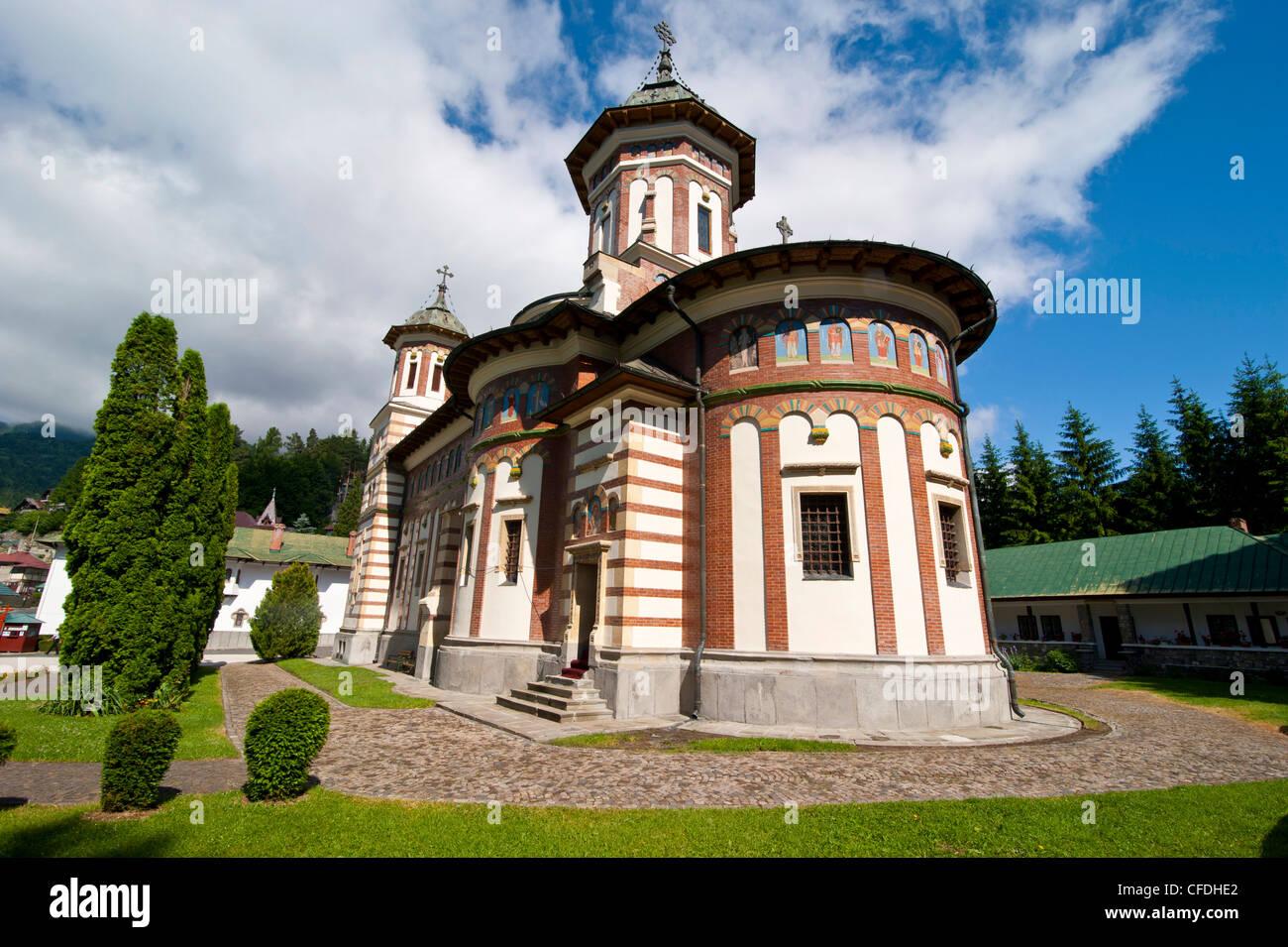 The Sinaia Monastery was founded by Prince Mihai Cantacuzino in 1695, Sinaia, Romania, Europe - Stock Image