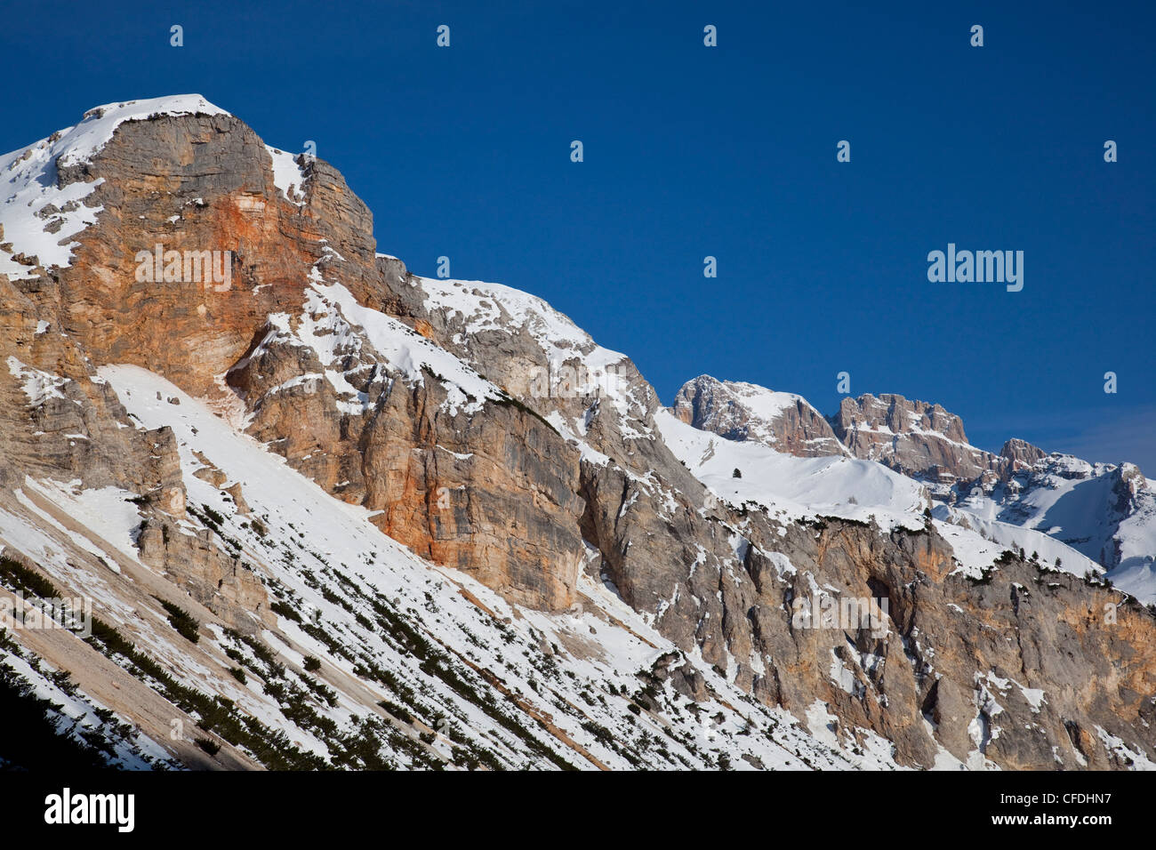 Ski mountaineering in the Dolomites, Cortina d'Ampezzo, Belluno, Italy, Europe - Stock Image
