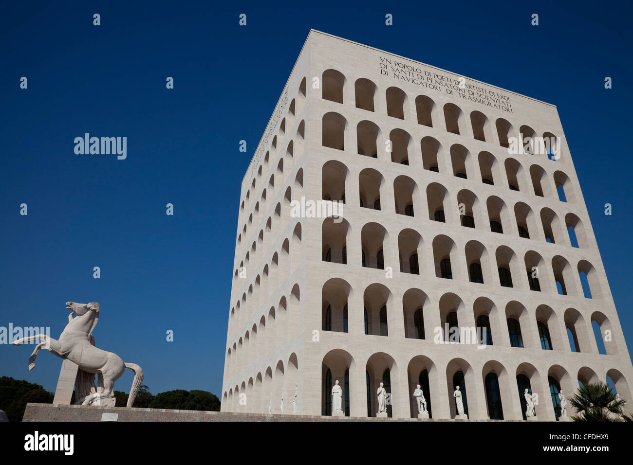 Palazzo della Civilta Italiana (Square Colosseum), EUR district, Rome, Lazio, Italy, Europe - Stock Image