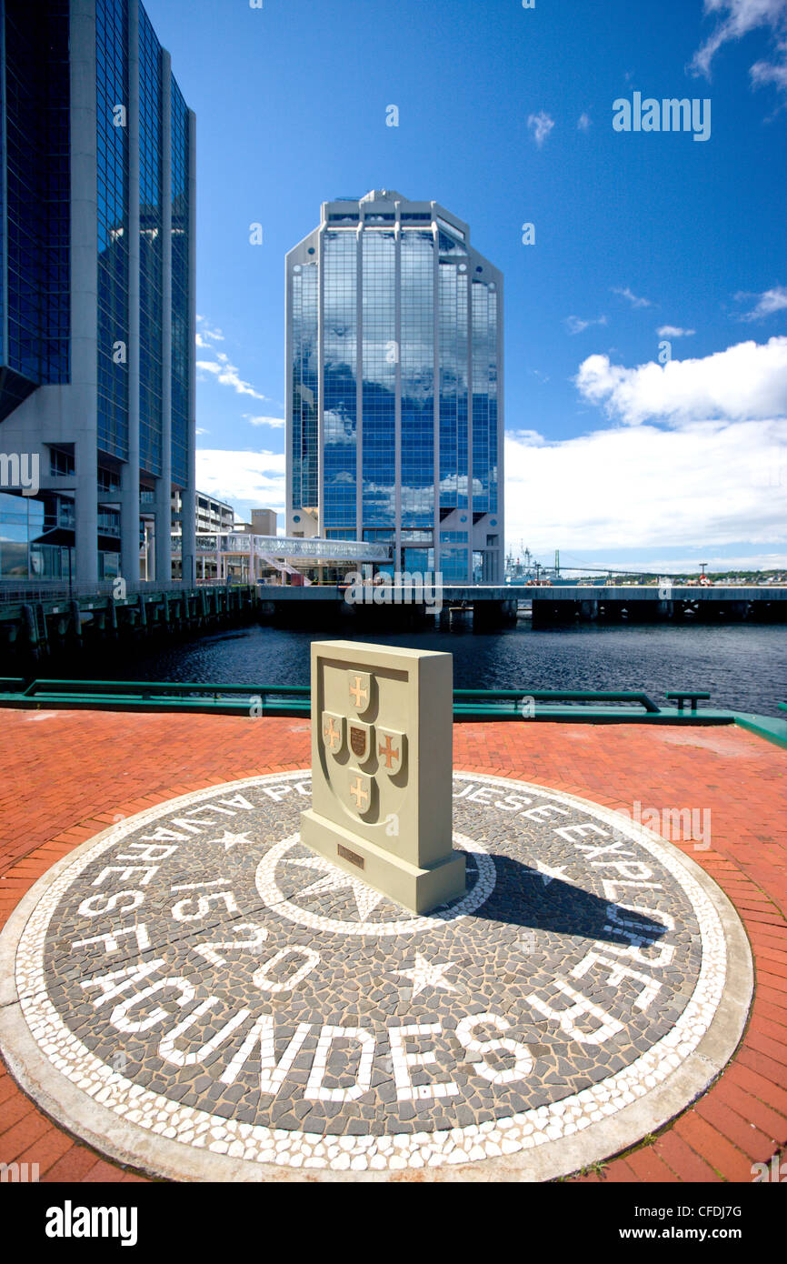 Halifax Waterfront showing mosiac commemorating - Stock Image