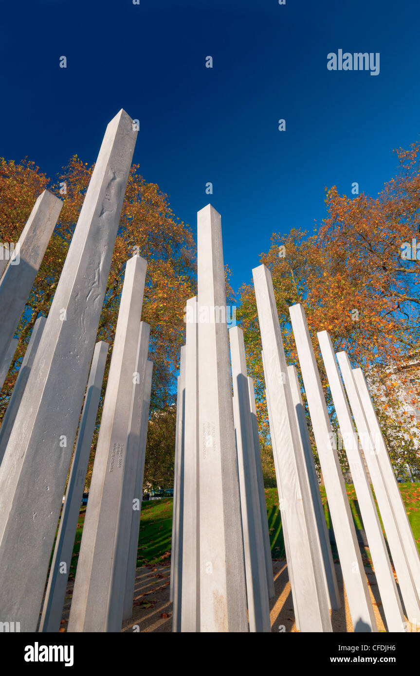 The 7th July Memorial to victims of the 2005 bombings, Hyde Park, London, England, United Kingdom, Europe - Stock Image