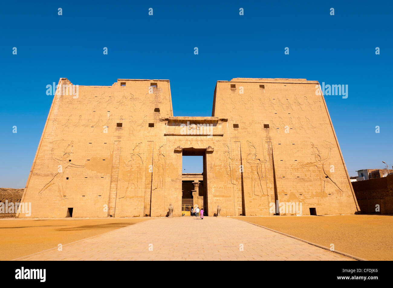 Temple of Horus, Edfu, Upper Egypt, Egypt, North Africa, Africa - Stock Image