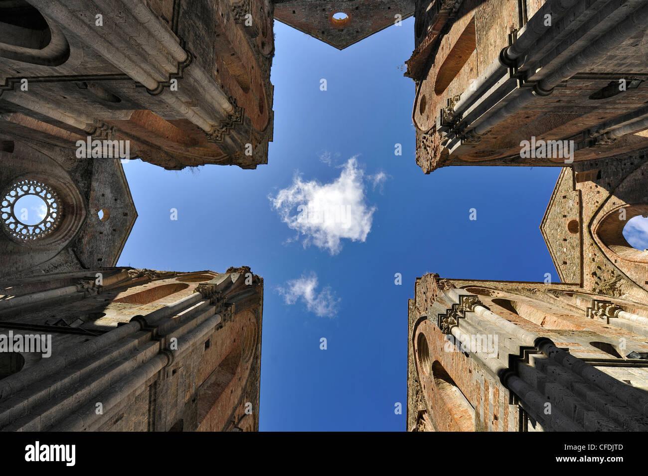 Detail of the Cistercian abbey San Galgano, Tuscany, Italy, Europe Stock Photo