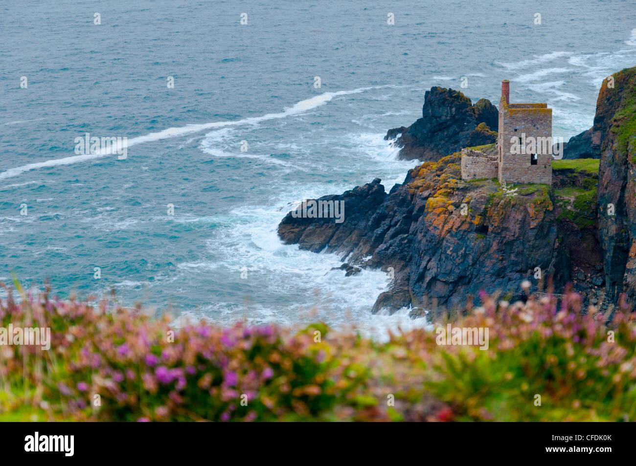 Botallack Mine, UNESCO World Heritage Site, Cornwall, England, United Kingdom, Europe - Stock Image