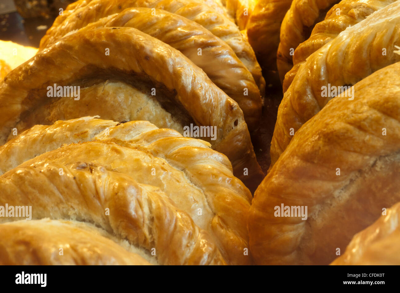 Cornish pasties, Padstow, Cornwall, England, United Kingdom, Europe - Stock Image