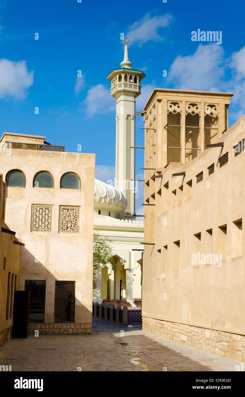 Bastakiya Quarter, Bur Dubai, Dubai, United Arab Emirates, Middle East - Stock Image