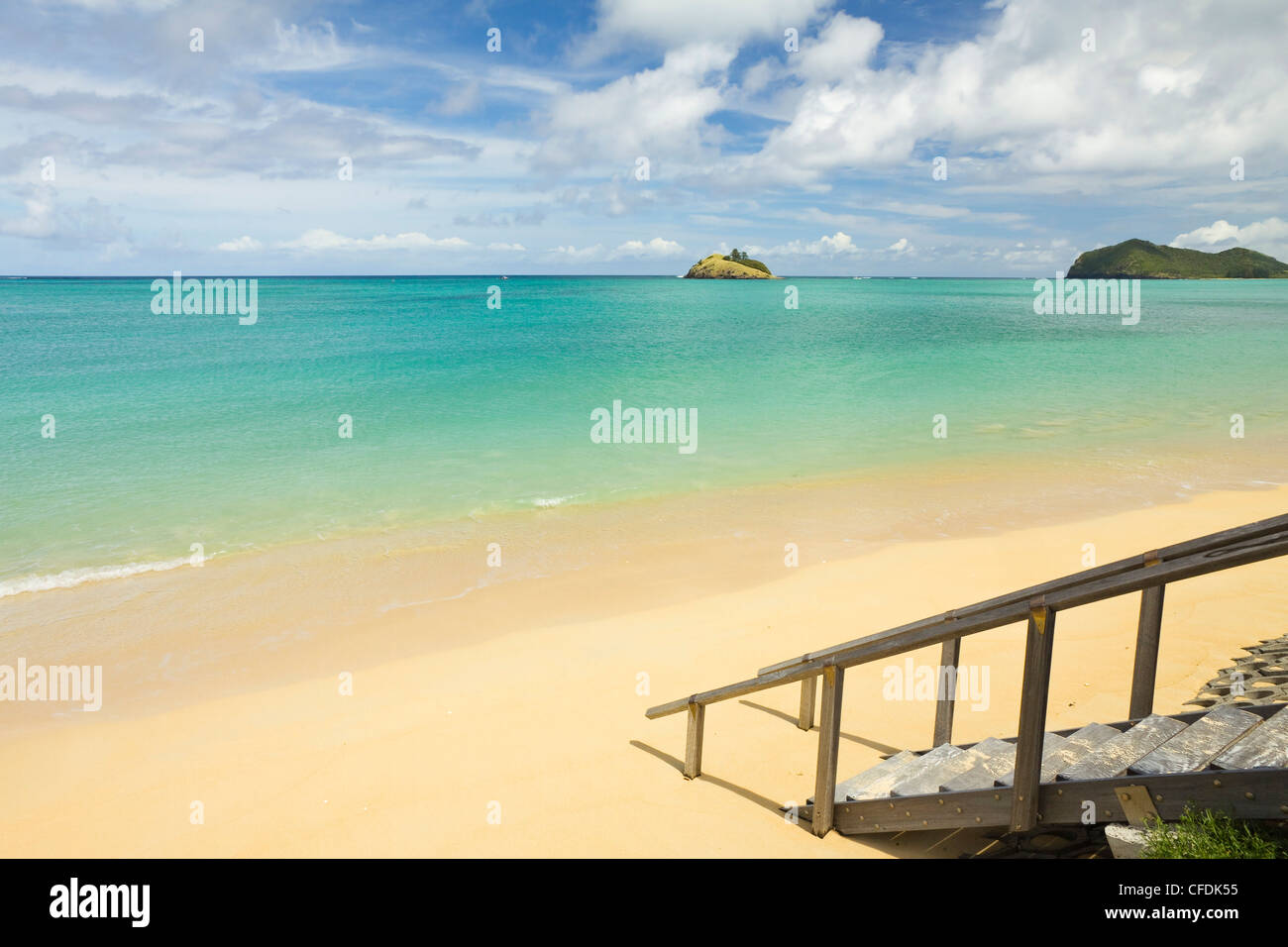 The lagoon with the world's most southerly coral reef, the Tasman Sea, Lord Howe Island, New South Wales, Australia - Stock Image