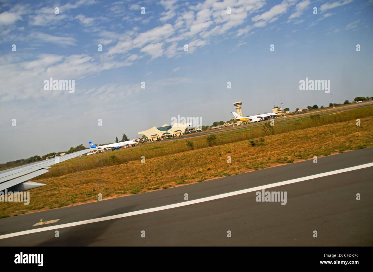 Yundum International Airport Banjul Gambia west Africa - Stock Image