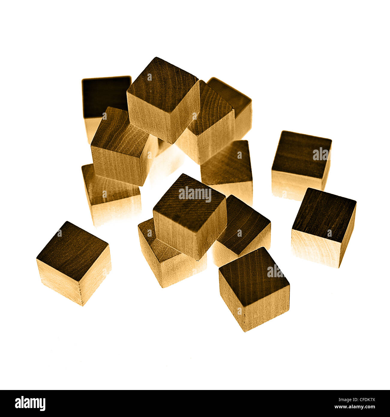 Wooden blocks - Stock Image