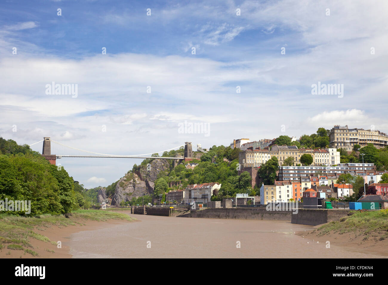 Clifton Suspension Bridgel, spanning the Avon Gorge of the River Avon, Clifton, Bristol, England, UK - Stock Image