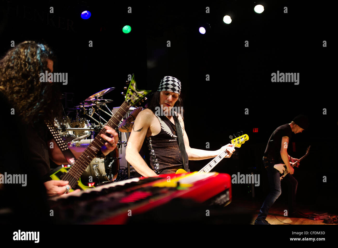 Elliott Rubinson of the Michael Schenker Group Playing at The Empire Club in Springfield, Virginia. March 2012 - Stock Image