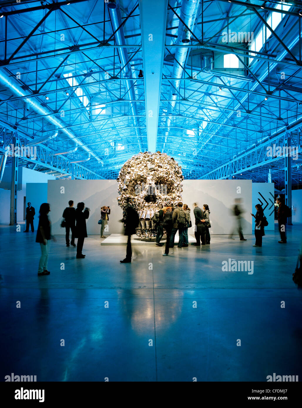 Skull sculpture at an exibition at The Garage, Center for Contemporary Cultur, Moscow, Russia, Europe - Stock Image