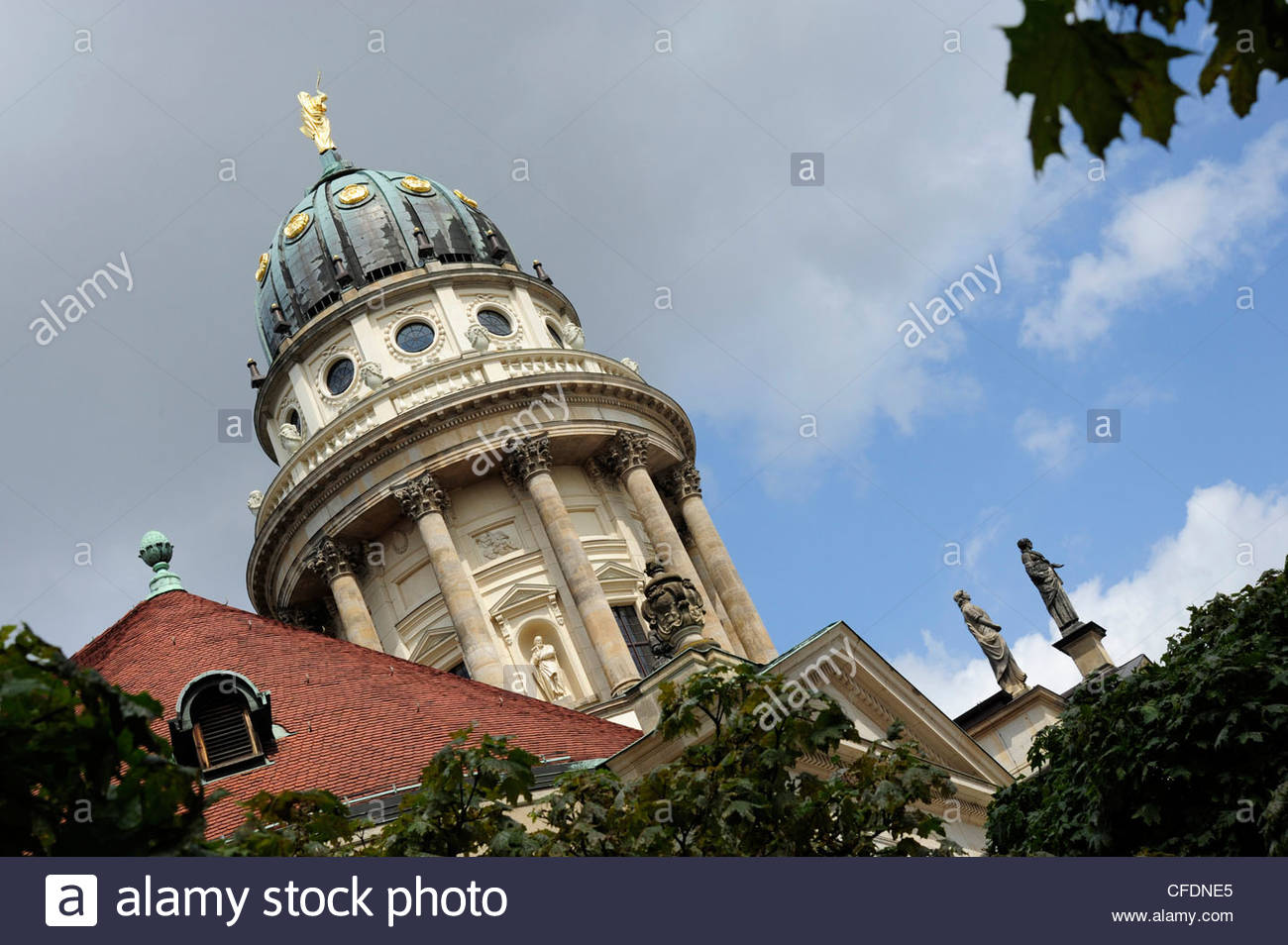 French Cathedral, dome of the church, Gendarmenmarkt square, Berlin Mitte, Germany Stock Photo