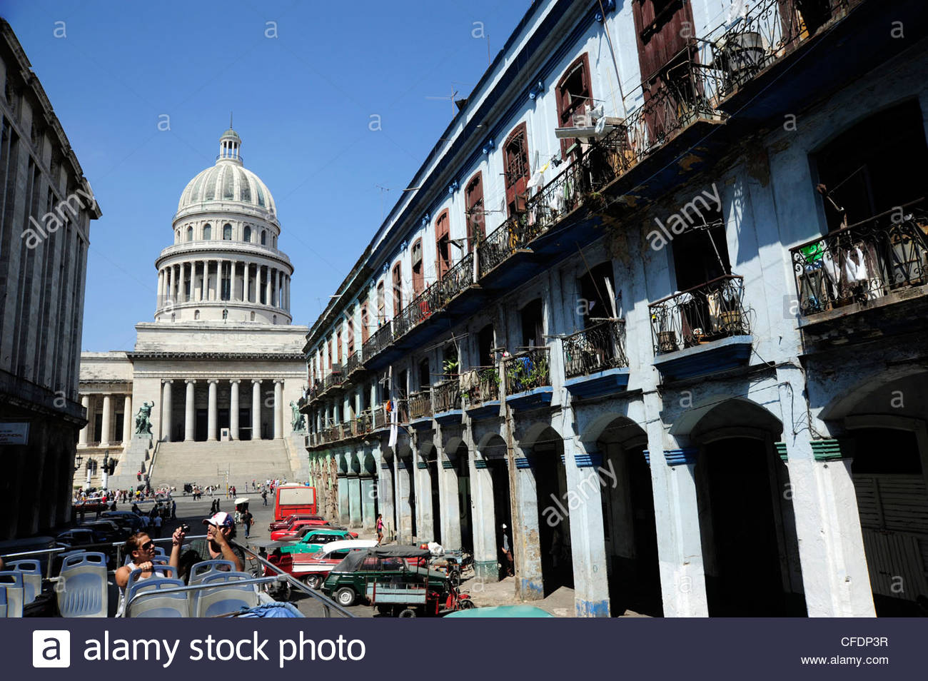The Capitolio Nacional in the neoclassicism style, city center of Havana, Centro Habana, Cuba, Greater Antilles, - Stock Image