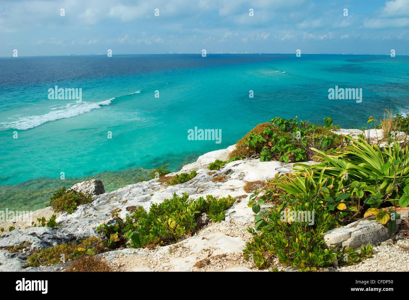 South point, Isla Mujeres Island, Riviera Maya, Quintana Roo, Mexico, - Stock Image