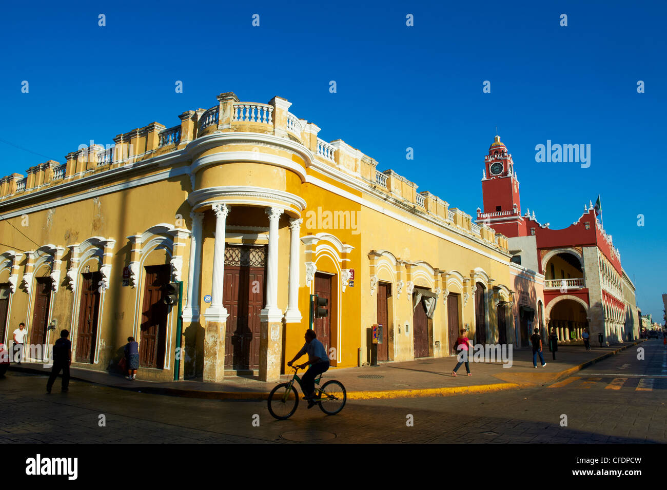 Independence Square, Merida, Yucatan State, Mexico, - Stock Image