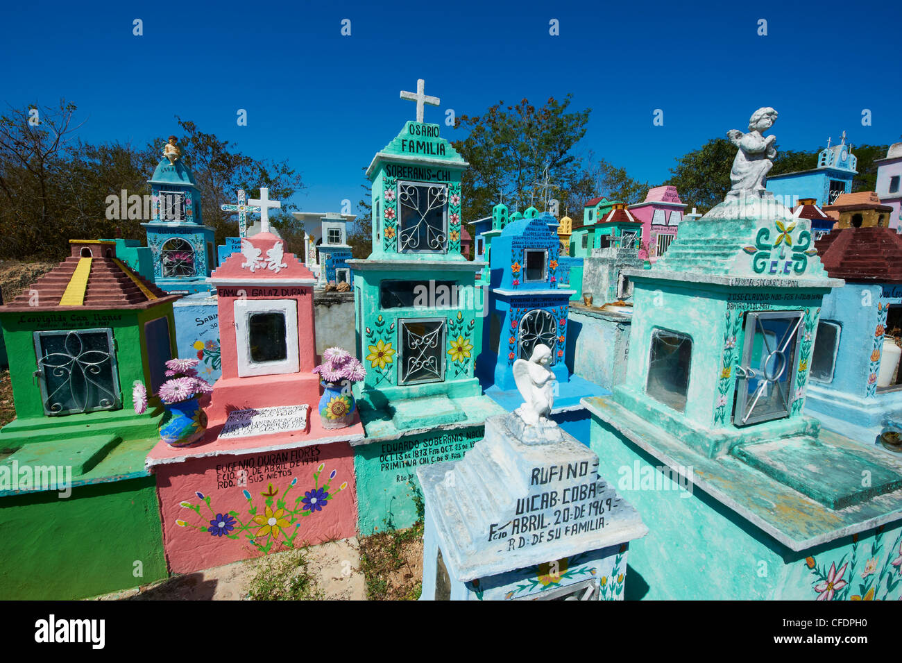 Mayan cemetery, Hoctun, Yucatan State, Mexico, - Stock Image