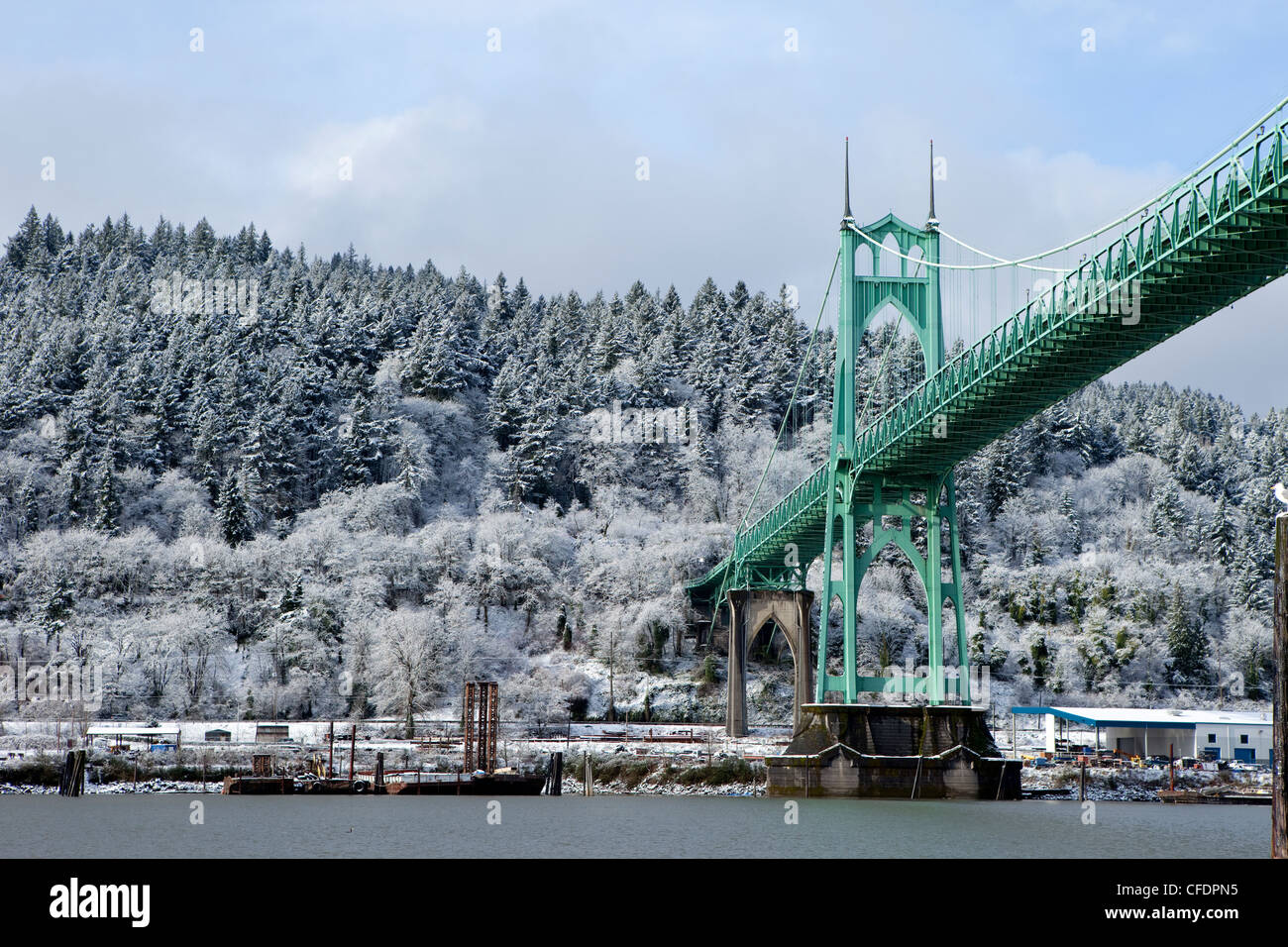 A bridge in Portland Oregon. - Stock Image