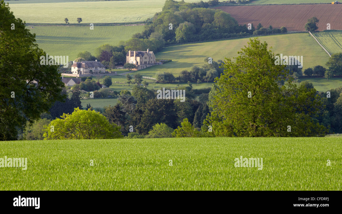 Cotswold countryside near Chipping Camden, The Cotswolds, Gloucestershire, England, United Kingdom, Europe - Stock Image
