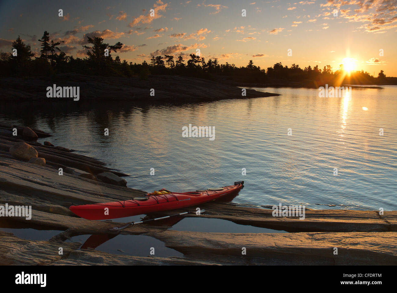 Snug Harbour, Franklin Island, Parry Sound, Geogian Bay, Lake Huron, Canadian Shield, Ontario, Canada - Stock Image