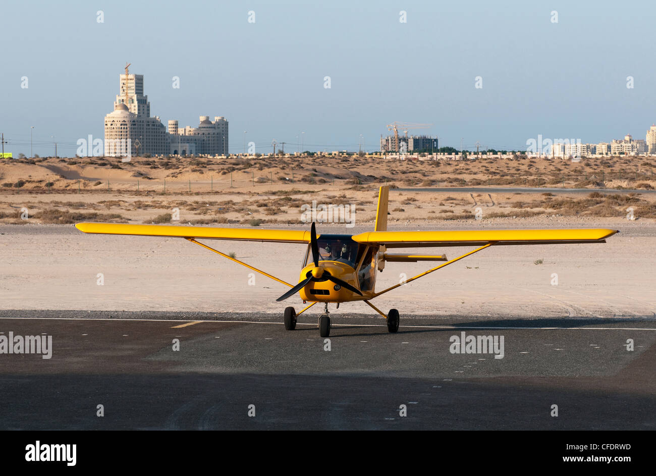 The Aeroprakt A-22 Foxbat is a two seat, high-wing, tricycle gear ultralight aircraft, United Arab Emirates - Stock Image