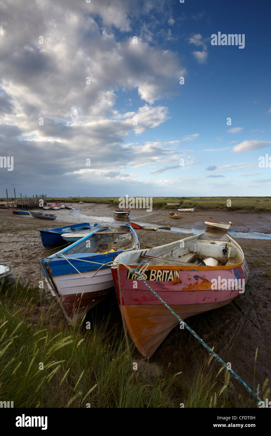 A view of Morston Quay, North Norfolk, Norfolk, England, United Kingdom, Europe - Stock Image