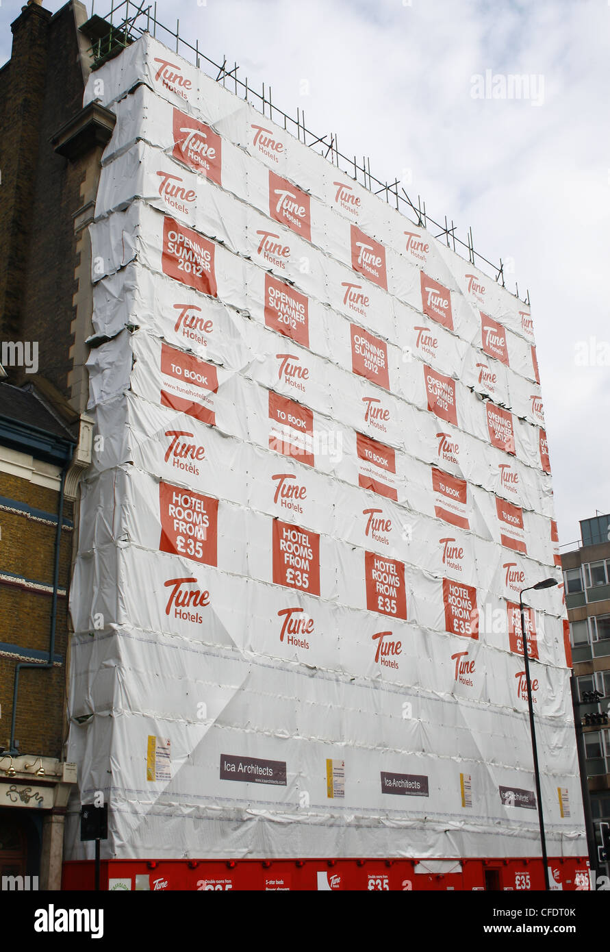 Tune Hotel being built on Grays Inn Road, London, WC1 - Stock Image