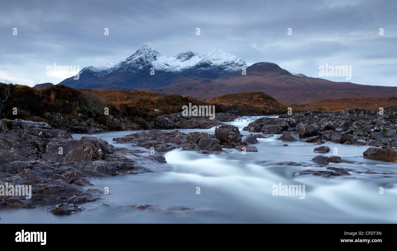 A November morning view of the,Cuillin mountain Sgurr nan Gillean, Glen Sligachan, Isle of Skye, Scotland, United - Stock Image