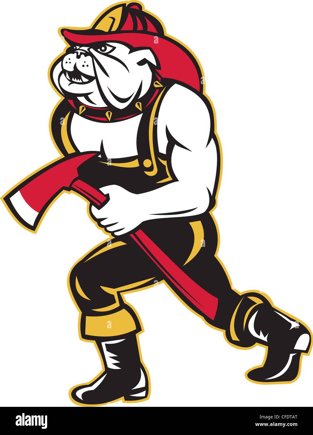 Dog Fireman Firefighter Fire Axe Stock Photos Dog Fireman