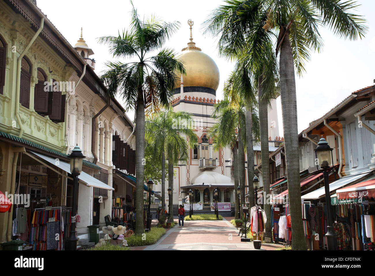 The Sultan Mosque built in 1826, Kampong Glam, Singapore, Southeast Asia, Asia - Stock Image