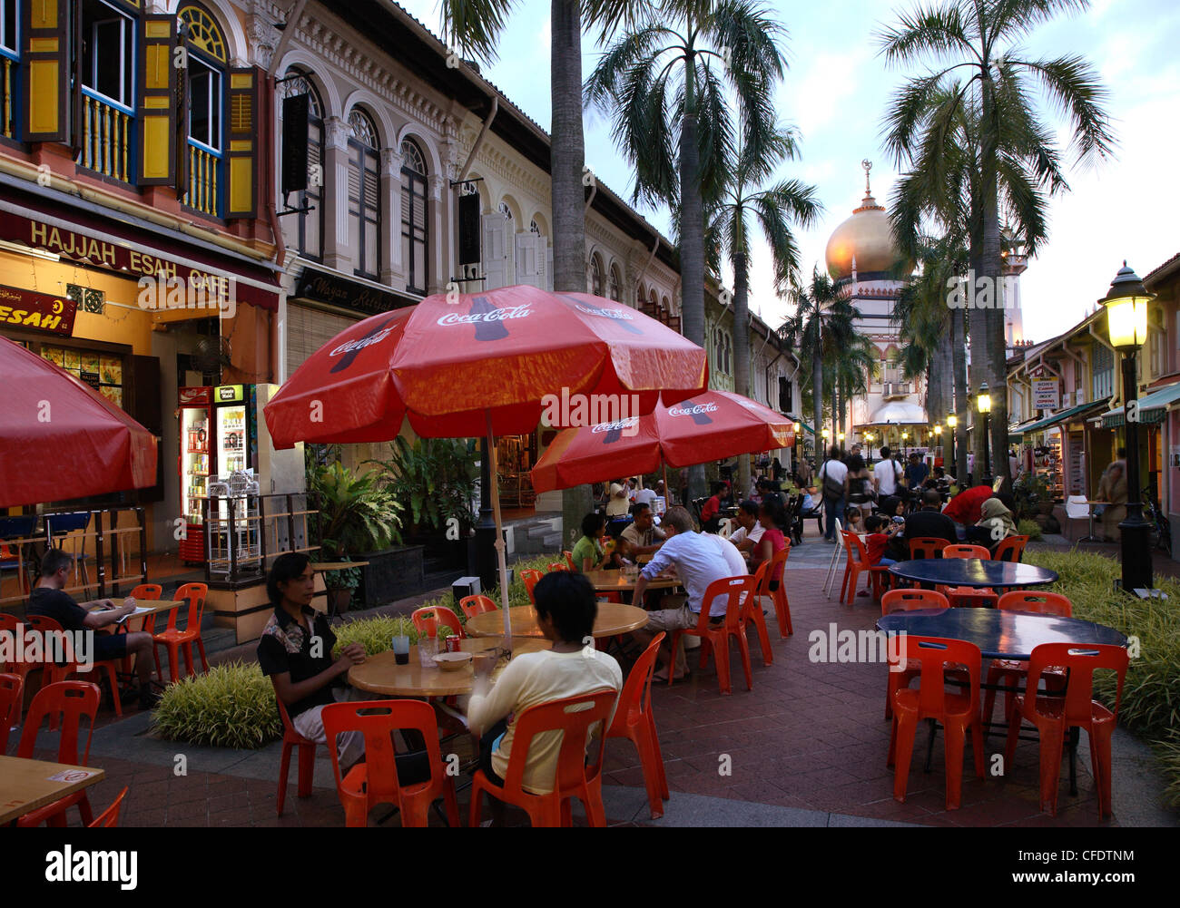 Kampung Glam is a lively area at night, Singapore, Southeast Asia, Asia - Stock Image