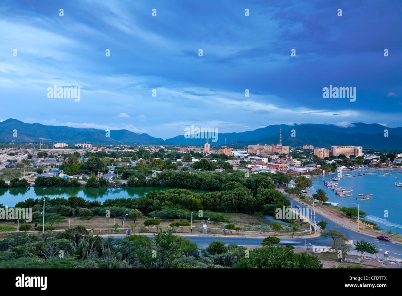 View of Juangriego, Isla De Margarita (Margarita Island), Nueva Esparta, Venezuela, South America - Stock Image