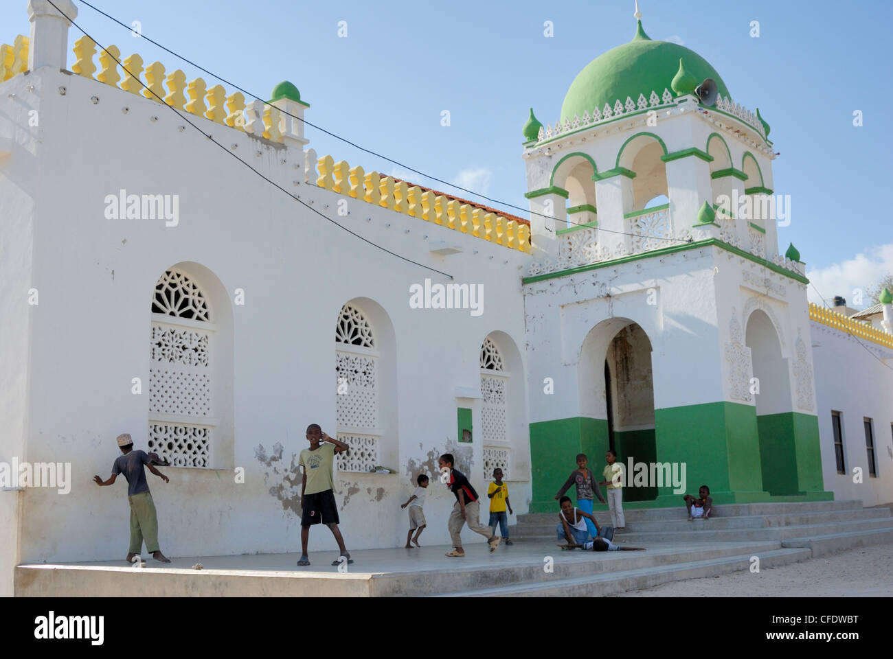 The Great Mosque, Old Town, UNESCO World Heritage Site, Lamu Island, Kenya, East Africa, Africa Stock Photo