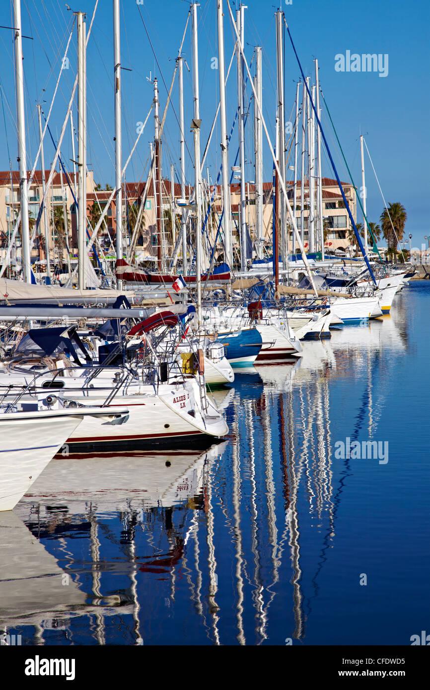 Argeles Port, Argeles sur Mer, Cote Vermeille, Languedoc Roussillon, France, Europe - Stock Image