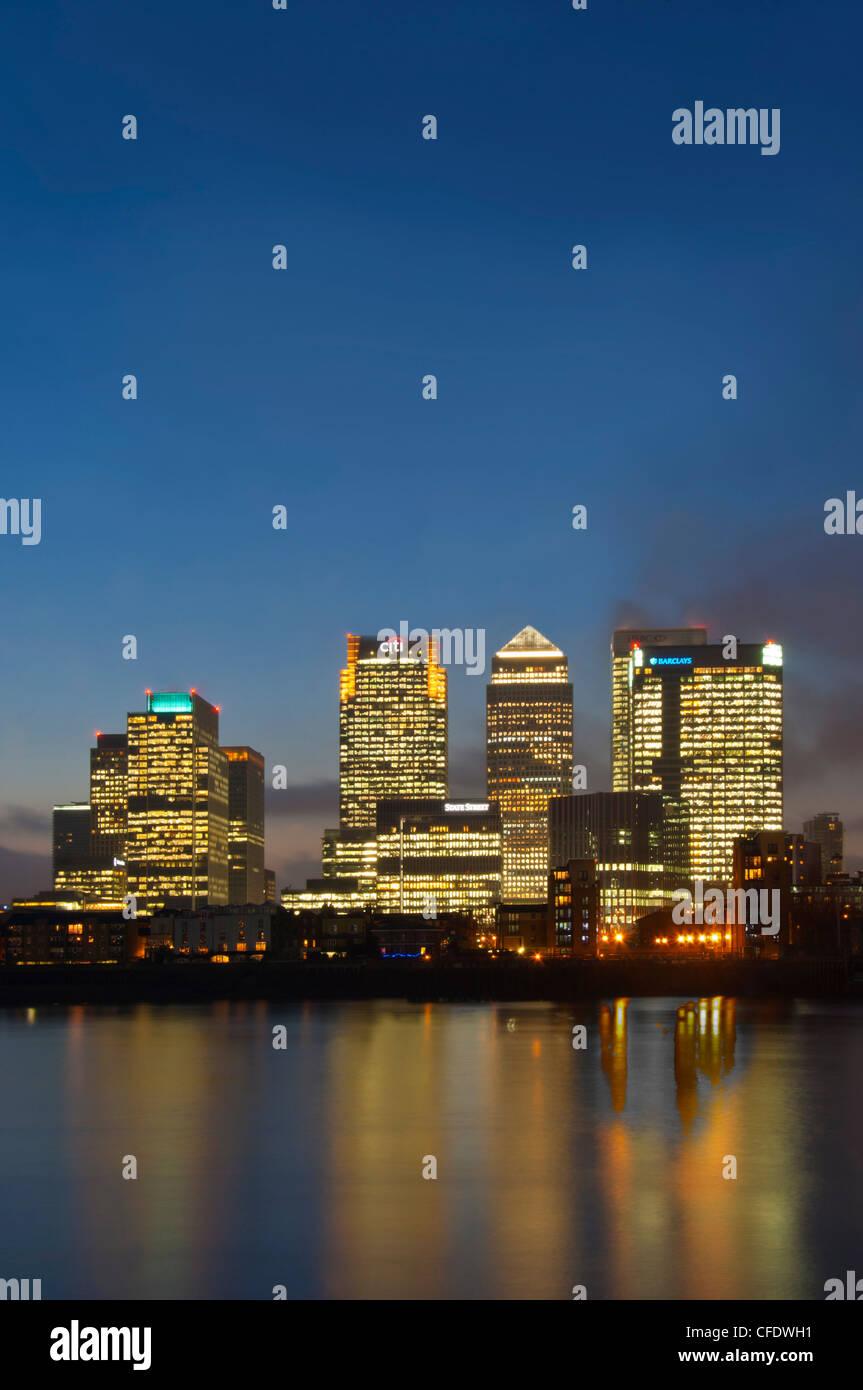 Canary Wharf, London Docklands, London, England, United Kingdom, Europe - Stock Image