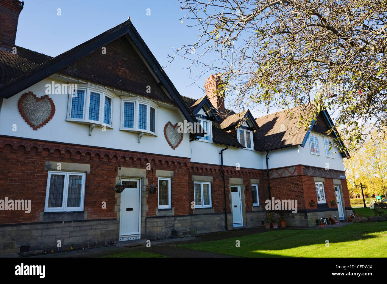 House on King George's Drive, Port Sunlight Museum and Garden Village, Port Sunlight, Merseyside, England, United - Stock Image