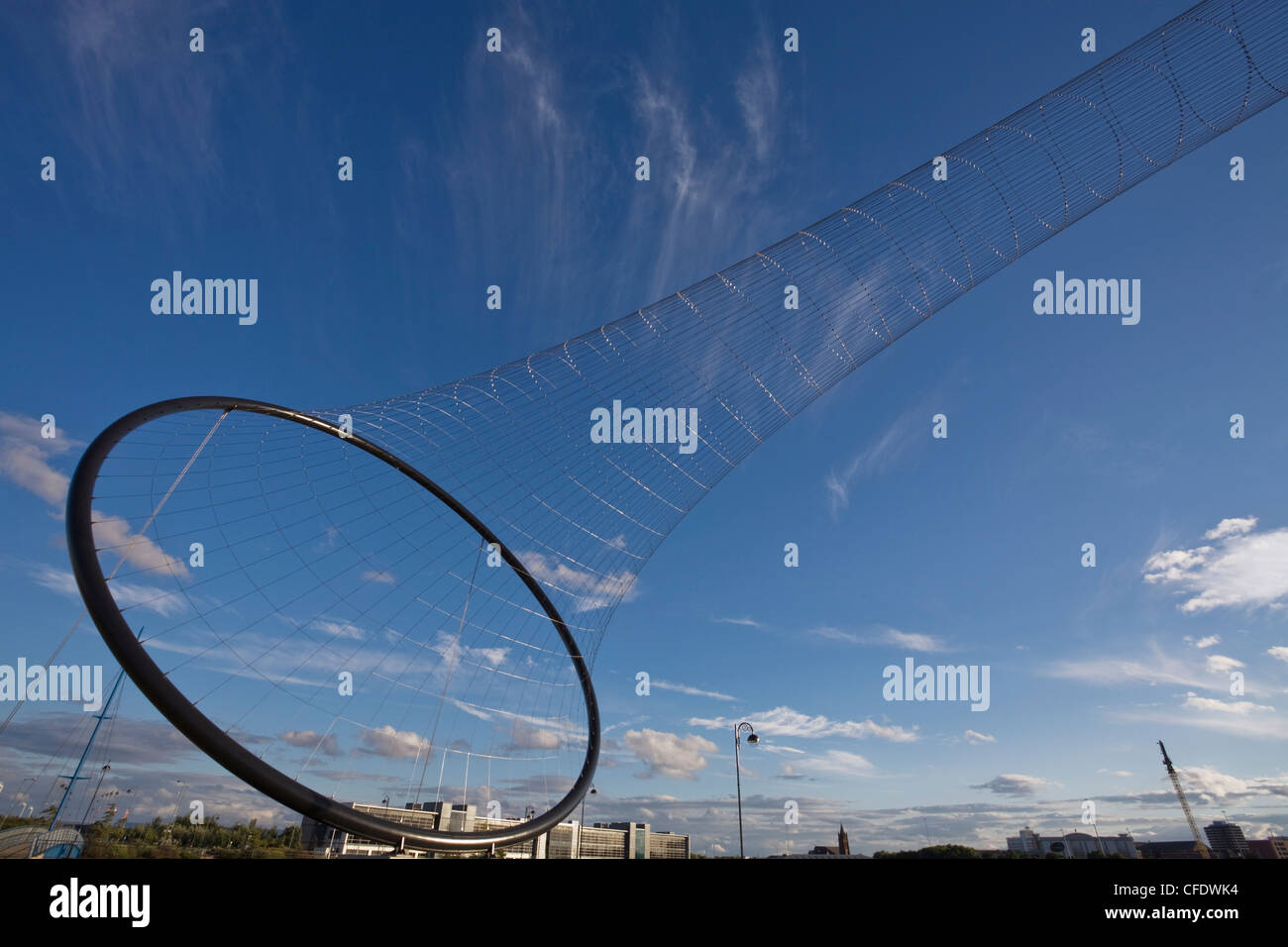 Temenos sculpture installed in 2010, by Anish Kapoor, Middlesbrough, Teeside, England, United Kingdom, Europe - Stock Image