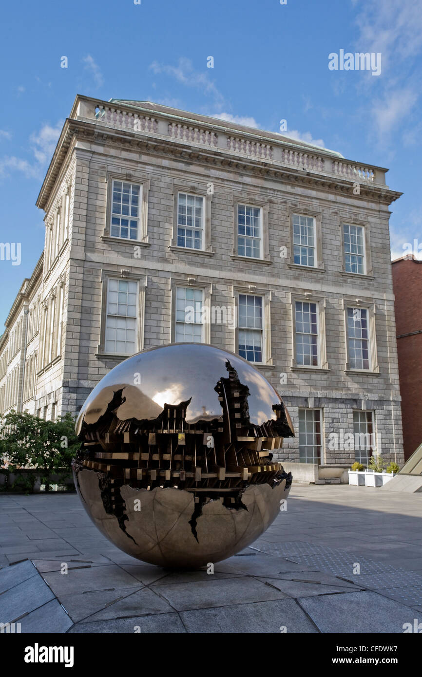 Sphere into Sphere, Trinity College, Dublin, Republic of Ireland (Eire), Europe - Stock Image
