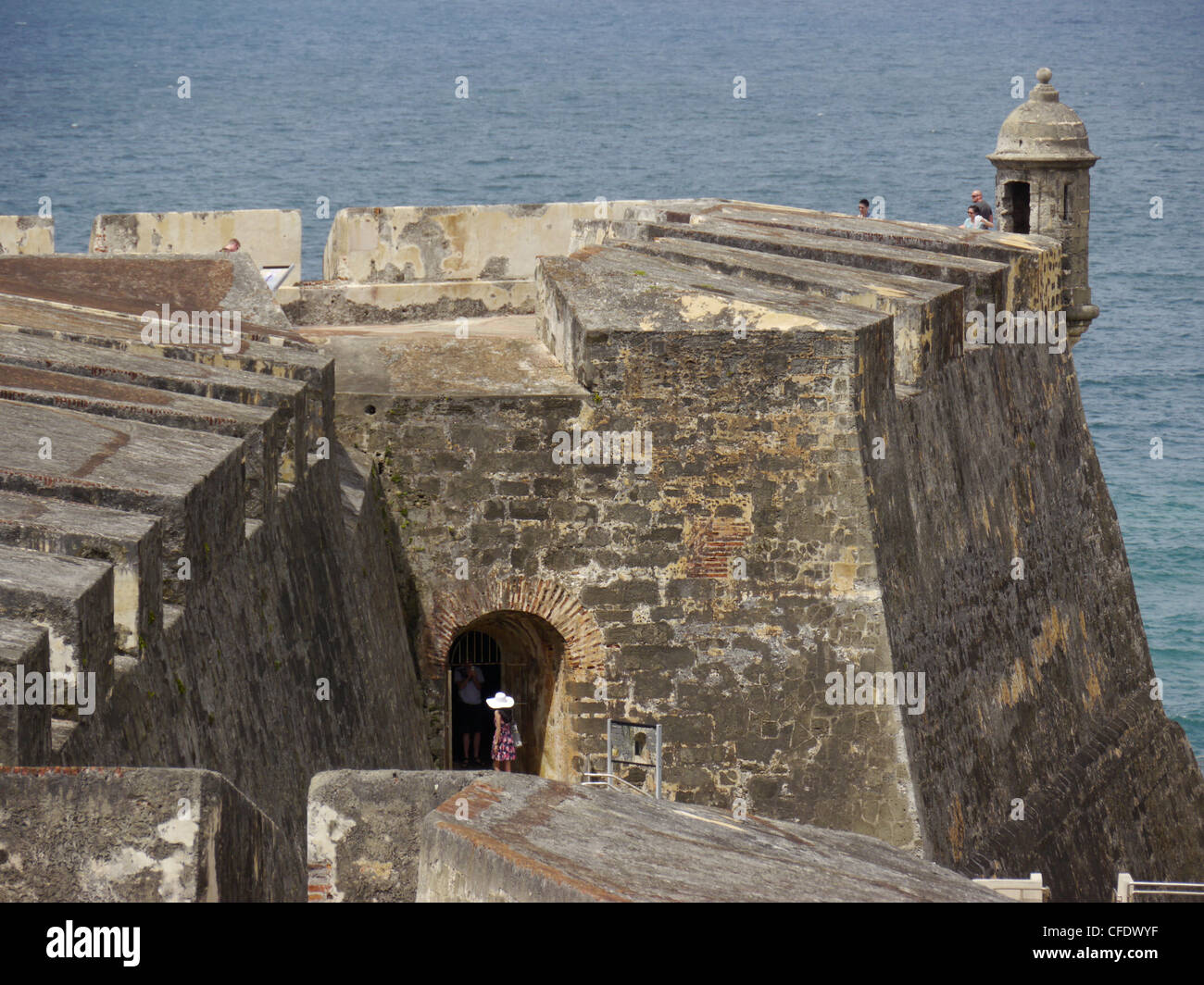 Fortifications, San Juan, Puerto Rico, West Indies, Caribbean, Central America - Stock Image